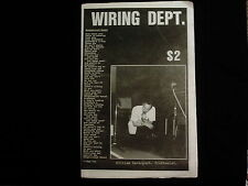 WIRING DEPT. '85 punk fanzine- COC*FLAMING LIPS*R.E.M.*FRIGHTWIG*FAITH NO MORE +