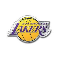 Los Angeles Lakers Die-Cut Aluminum Auto Emblem [NEW] LA NBA Metal Car Decal CDG