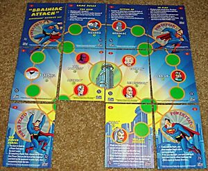 BRAINIAC ATTACK SUPERMAN ACTIVITY SET CARD SKYBOX FLEER '96 RARE PROMO 1-9 11 12