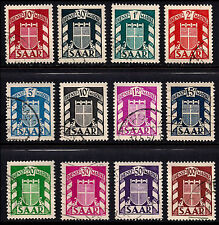 OPC 1949 Saar French Protectorate Officials Set Sc#27-38 Used VF