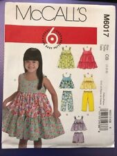 McCall's Pattern M6017 Infant / Childs Dress Top Trousers Shorts age 1-3