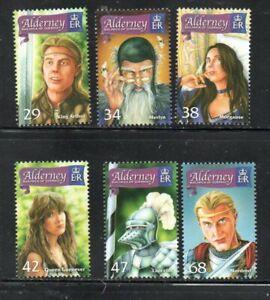 Alderney Sc 263-68 2006 King Arthur & His Court stamp set mint NH