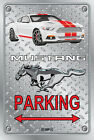 Parking Sign Metal MUSTANG 2015 Shelby GT- 08 WHITE - Checkerplate Look