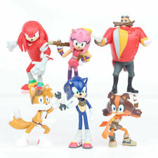Sonic The Hedgehog Knuckles Tails 6 Pcs Action Figure Collection Kids Toy Gift