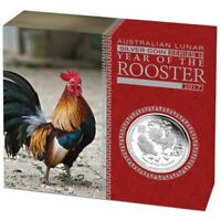 2017 Lunar Year of the Rooster 1oz Silver Proof Coin - PERTH MINT