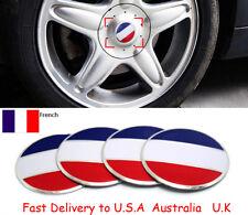 4X France French Flag Auto Wheel Center Hub Caps Sticker Emblems PEUGEOT CITROEN