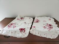 Set of 2 Ruffled Simply Shabby Chic SUNBLEACHED Rose Floral Pillow Shams