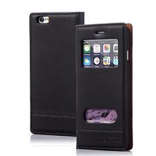 Numia Handy Tasche Schutz hülle Flip Cover Case Etui Apple iPhone 5 5s schwarz