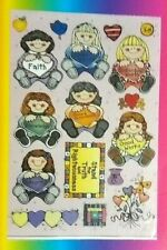 Vintage D.J. Inkers Religious Value Girls Stickerdoodles Stickers
