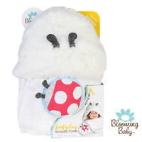 Blooming Bath, Ladybug Hooded Towel, Baby Towel, Absorbent, Soft, Bathtime Towel