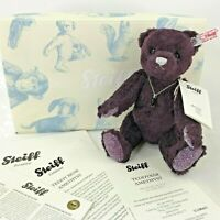 "Steiff Danbury Mint Teddy Bear Amethyst Purple 10"" 035159 Silk No 1575 Crystal"