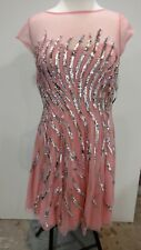 Aidan Mattox Women's Bloosom Sequin Cocktail Dress Size 12 NWT