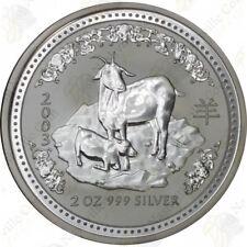 2003 Australia Lunar Series 1 — 2 oz Silver Year of the Goat — SKU #47203