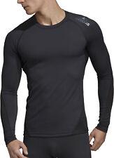 adidas AlphaSkin Sport Mens Baselayer Top Black Long Sleeve Training Jersey S-XL
