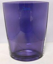 "Badash Handmade 8"" Purple Crystal Vase No Chips/No Cracks (Made In Poland)"