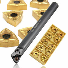 Set of S20R-MWLNR08 20mm Lathe Turning Tool Holder + 10X WNMG0804 Carbide Insert