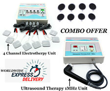 Combo Ultrasound Therapy 1mhz Machine 4 Channel Electrotherapy Pain Relief Unit