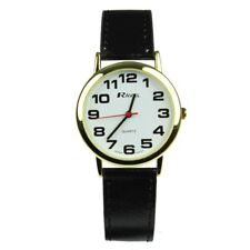 Ravel Ladies / Mens Large Dial Clear White Face GILT R0105.06.1A QUALITY