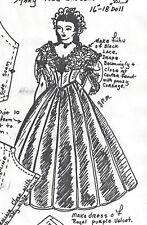 "16-18""ANTIQUE CHINA HEAD/PARIAN DOLL CLOTH BODY@1860 DRESS UNDERWEAR PATTERN"