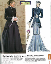 NEW 1900 EDWARDIAN VICTORIAN DRESS JACKET SKIRTS PATTERN BATTERICK B4954 BB 8-14