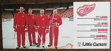 Little Caesars Detroit Red Wings Coach Card COLIN CAMPBELL Phil Myre DAVE LEWIS