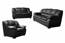 Sofa Couch Trendmanufaktur Garnitur 3-2-1 Casino - Schwarz - Kunstleder