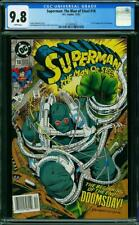 Superman The Man of Steel 18 Newsstand First Doomsday CGC 9.8 WP DC 1991