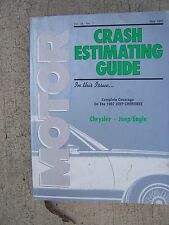 1990 - 1997 MOTOR Chrysler Jeep / Eagle Crash Estimating Guide Cherokee Auto U
