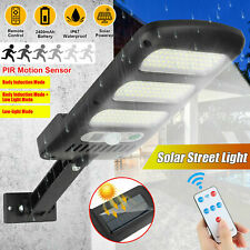 Solar 213LED Outdoor Street Wall Light Sensor PIR Motion LED Lamp Remote Control
