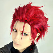 Anime K Project Suoh Mikoto Red Short 30CM Layered Men Cosplay Wig + Wig Cap