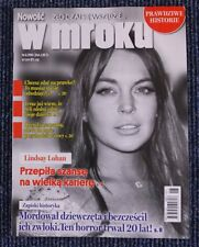 "LINDSAY LOHAN great mag.FRONT cover Poland ""W MROKU"""