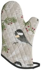 NOW DESIGNS Oven Mitt Chickadee NWT 100% Gray