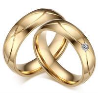 Coppia anelli fedine fedi fidanzamsnto oro fedine acciaio inox semplici ed elega