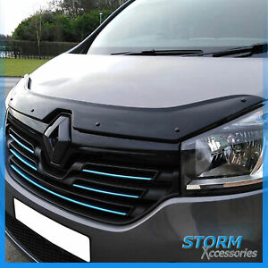 STX BONNET GUARD - BUG / STONE PROTECTOR – BLACK FOR RENAULT TRAFIC 2014 ON