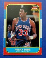 1986 FLEER PATRICK EWING BASKETBALL CARD #32 ~ ROOKIE RC (PE01)