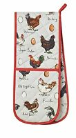 CHICKEN AND EGG DOUBLE OVEN GLOVE Ulster Weavers
