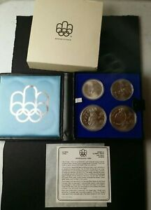 Canada 1976 Montreal Olympics Sterling Silver Series IV Coin Set