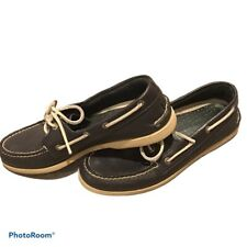 Navy Blue SPERRY TOP-SIDER Boat Shoes Leather Men's 8