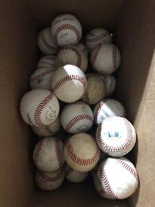 30 used leather baseballs, good condition