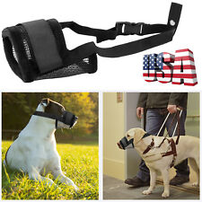 Pet Dog Muzzle Cover Adjustable Breathable Mesh Dog Friendly Soft Mouth Cover Us