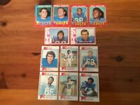 Lot of 12 Trading Cards -  1971-73 Topps FOOTBALL Baltimore Colts (AFC) Various