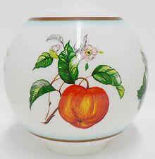 White Glass Lamp Globe With Fruit Design Apple - Orange - Grapes & Lemon