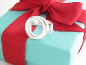 Tiffany & Co Silver Sevillana Peretti Ring Band Size 8.5