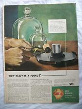 VTG 1944 Original Magazine Ad Shell Gas Gasoline How heavy Is A Pound