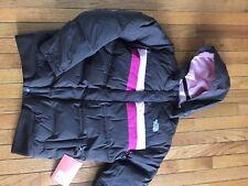 New The North Face Parka Aqui Down Ski Snowboarding Winter Jacket Brown Girls Xl
