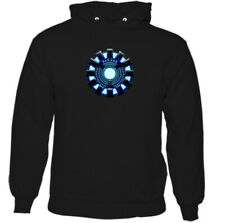 Arc Reactor Mens Iron Man Inspired Hoodie The Avengers Fancy Dress Outfit Top