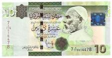 LIBYEN LIBYA 10 DINARS 2009 UNC P 73