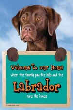 CHOCOLATE LABRADOR WELCOME SIGN STUNNING 3D great Christmas stocking filler