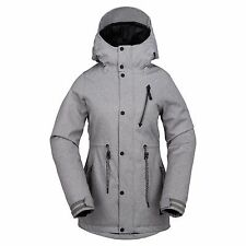 2017 NWT WOMENS VOLCOM KELSO INSULATED SNOWBOARD JACKET $220 S heather gray