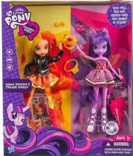 My Little Pony Equestria Girls SUNSET SHIMMER TWILIGHT SPARKLE DOLL SET 2 PACK